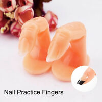 10 Pcs Practice Fake Finger Model For Hand Manicure Nail Art Training Display