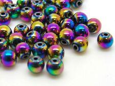 50 pcs - 4 mm électroplaqué Amagnétique Hématite Perles Rondes Bijoux Craft r99