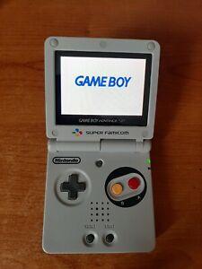 Nintendo Game Boy Advance Sp SNES EDITION LCD IPS V2 Ricondizionato no ags 101