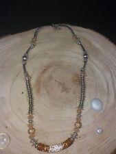 Halskette Perlen Metallelemente Strasselement Damen Frau Geschenk Idee