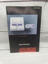 Vintage Super Nintendo Instruction Booklet Manual