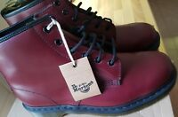 🆕Dr Martens Unisex 101 Cherry Red Smooth Leather 6 Eye Ankle Boots UK size 9.5