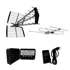 KIT PER DIGITALE TERRESTRE HD DVB-T DUE ANTENNE UHF E VHF IN HD TV 4G LTE READY