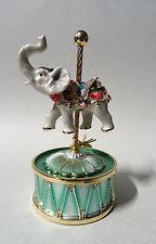 Music Stand Carrusel Elefante Swarowski CRISTALES equipado Chapado Decoración
