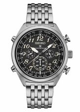 Seiko Men's Prospex Radio Sync Solar World Time Stainless Steel Watch SSG017