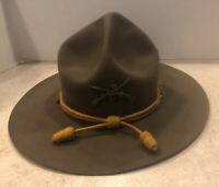 VINTAGE WW1 CAVALRY HAT Campaign HAT Nice Shape 1st Infantry 4th Cavalry