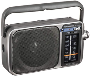 Panasonic RF2400D 2-Band Portable AM/FM Radio,Silver/Grey - BRAND NEW