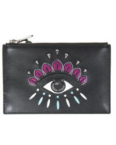 Borsa Pochette Kenzo Bag EYE CLUTCH Donna Nero F852PM611L22 99A Tg. U