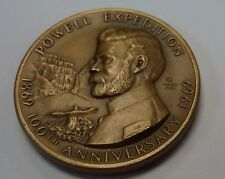 {BJSTAMPS} 1969 POWELL Exposition 100th Anniversary MACO  High Relief Medal WY