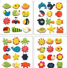 20Stück bunt Kinder Baby Holz Cartoon Kühlschrank Magnet pädagogisches Spielzeug