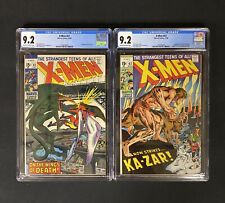 X-MEN 61 and 62 CGC 9.2 (MARVEL COMICS 1969) SAURON KA-ZAR NEAL ADAMS LOT OF 2