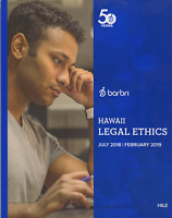 2018-2019----BRAND NEW------BARBRI HAWAII LEGAL ETHICS BOOKLET