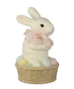 Bethany Lowe Easter Bunny On Egg Basket TL8697 New