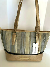 NEW! BRAHMIN Medium Asher Leather Tote-Gold