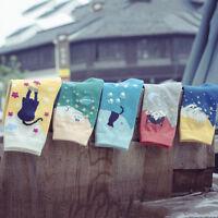 Femmes de mode jolis mignons de chat chaussettes animal de coton de dessinanimé
