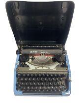 Vintage Collectible Brother   Sea Foam Blue Portable Typewriter Nagoya japan