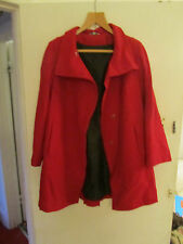 Red M&S Thigh Length Wool Blend Coat in Size 14 P - NWOT
