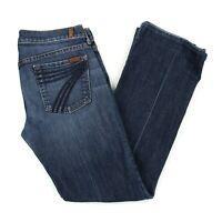 Womens 7 For All Mankind Dojo Bootcut Jeans Sz 29 (30 x 30) Denim Medium 7FAM