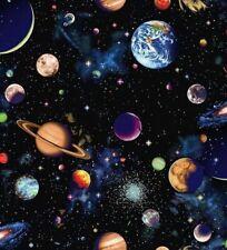 Nutex Fabric - Solar System - Planet Panel 60cm - 100% Cotton