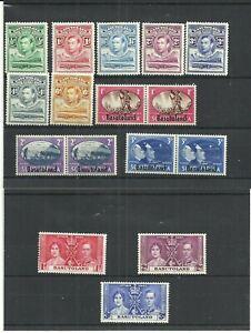 BASUTLAND STAMPS KGVI 1938 Part Set to 1/- Crocodile/MOUNTAIN SG18/26 MLH