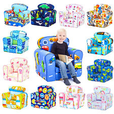 Children's Armchair Kids Toddler Seat Removable Cover Padded Upholstered Chair Owls