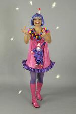 2 piezas Payaso traje, Sombrero, mujer multicolor, Carnaval Fiesta Motivo 36-38