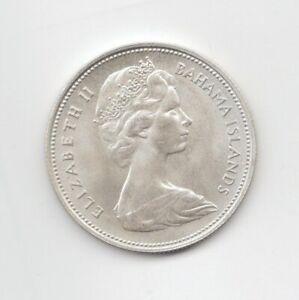 Bahamas Silver Uncirculated 1966 50 Cents-Lot B13