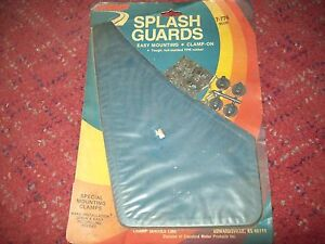 Champ Splash Guards Mud Flap Pair 7-774 Blue Clip on Universal Easy Mounting NEW