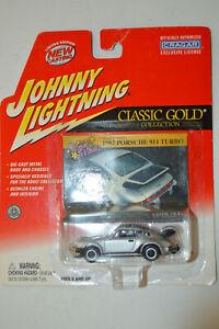 Johnny Lightning 1982 Porsche 911 Turbo Classic Gold Silver Diecast 1:64 NOS