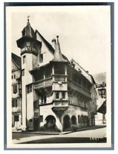 France, Colmar, Maison Pfister Vintage silver print Tirage argentique  5x8