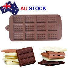 Mini Chocolate Bar Flexible Silicone Mold Candy Chocolate Cake Jelly Mould AU