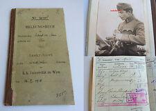 Meldebuch Universität WIEN & GRAZ 1918-1920 für RICHARD KAAN / viele AUTOGRAPHE!