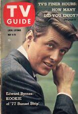 1959 TV Guide May 9-Ed Byrnes-Kookie, 77 Sunset Strip; Johnny Crawford;Wrestling