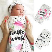 Newborn Baby Blanket Swaddle Print Sleeping Bag Kids Sleep Sack Stroller Wrap