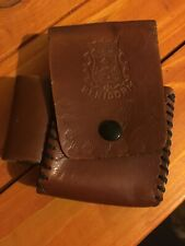 Vintage Benidorm Brown Leather Cigarette Pouch Case