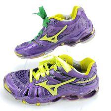 Mizuno Wave Tornado 7 VII Womens Size 9 Running/Volleyball Shoes Purple/Neon EUC