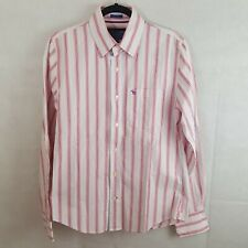 Abercrombie And Fitch Mens Shirt Pink Size M Cotton Striped Muscle Longsleeve