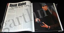 David Blaine 1997 Pictorial Nowhere Man? Magic Magazine Harry Blackstone Death