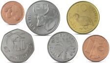 GAMBIA CURRENCY SET 6 COINS 1, 5, 10, 25, 50 BUTUTS, 1 DALASI 1998 2014 UNC