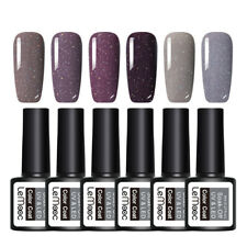 6Pcs LEMOOC 8ml Glitter UV Gel Polish  Nail Art Soak Off UV Gel  #2