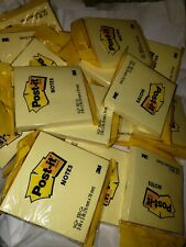 Lot Of 5 Padpost It Notes 3 X31 Pad Content 100 Sheets Yellow Total 500 Sh