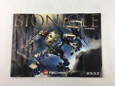 Lego Technic - Onua Bionicle Set 8532 Instructions Booklet / Manual Only
