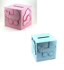 Baby Shower Girl Boy Wishing Well Card Box Decoration Keepsake Carriage Rattle
