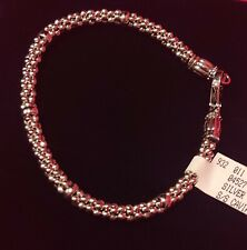 LAGOS Sterling Silver Caviar Beaded Station 4mm Rope Bracelet     NEW