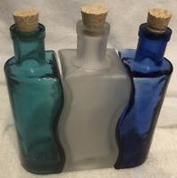 Set of 3 Vintage Vidrios De Levante Art Glass Art Deco Spain Hand Blown Glass
