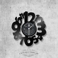 Horloge en disque vinyle 33 tours thème Clock