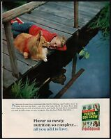 Cute COLLIE DOG 1965 PURINA DOG CHOW Vintage Look REPLICA METAL SIGN LASSIE