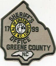GREENE COUNTY NORTH CAROLINA NC SHERIFF POLICE PATCH