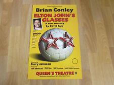 Brian CONLEY in ELTON John's Glasses New Comedy Original QUEEN'S Theatre Poster