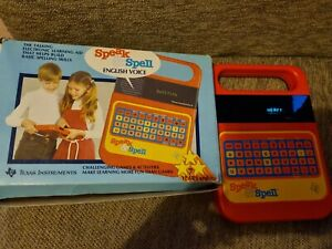 Vintage Speak And Spell With Book Working In Original Box